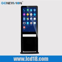 42 Inch Digital Signage Floor Standing Ad Player Digital Poster Ad Player Touch Screen Lcd with garb