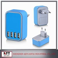 Travel usb charger 5V4.5A 4 port usb charger with smart IC for cell phone