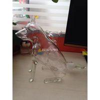 750ML Handcraft Hand Blown Dog Shaped Glass Wine Bottles