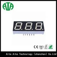 three digits 7 segment led display