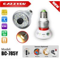 BC-785Y HD720P WiFi Bulb IP Network DVR Camera with 5W Warm Light Output + Wireless Alarm Sensors