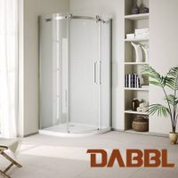 Modern bi-colour design in sliver and white Shower Room Shower sliding door