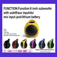 6 inch subwoofer with usb tf speaker