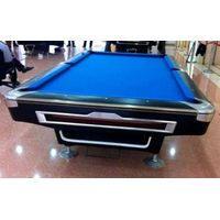 9ft Deluxy Solid Wood Pool Table with 3-piece slate thumbnail image