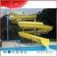 Spiral yellow slides for children on sale