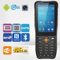 IP65 Rugged type 1D barcode reader android handheld PDA mobile device with 4G NFC/RFID reader/Wifi