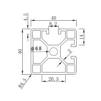special profile;Metric T slot Aluminum Profile BT4040E2