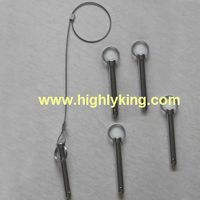 Elastic locking link pins with hoodle for aluminium scaffolding thumbnail image