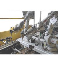 3D Waterjet Waterjet Cutting Cell Cutting Car Seat with Water Robot Robotic Waterjet Systems