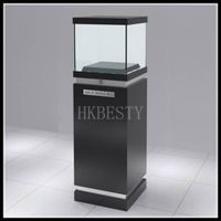 glass jewelry display furniture with LED light