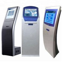 "OEM Intelligent 17"" Bank Queue Management System Ticket Dispenser Token Number Kiosk"