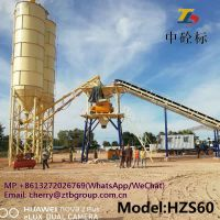 HZS60 concrete batching plant and cement mixing plant for sale