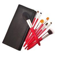 8pcs Red professional makeup brushes thumbnail image