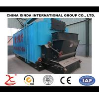 Horizontal type fire tube and water tube steam boiler