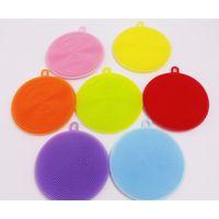 Food grade customized useful fruit wash silicon brush for wash dishes thumbnail image