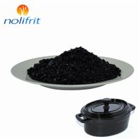 Cast-iron enamel bbq glossy black enamel frit for EGC-635