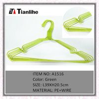 coat hanger, plastic coating wire clothes hangers