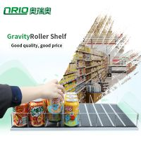 High Quality Refrigerators Acrylic Shelves Gravity Feed Roller Plastic Tray For Beverage Cooler Disp