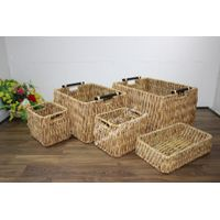 Eco-friendly water hyacinth baskets for home furniture, Wicker Baskets-SD7039A-5NA