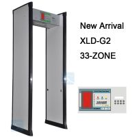 33 ZONES security door frame walk through metal detector gate for airport XLD-G2