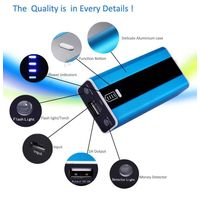 External battery 5600mAh portable metal power bank with led light  & Money Dedecor for travelling ch