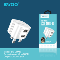 BWOO UK Standar Travel Charger for Mobile Phone