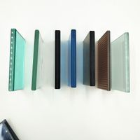 8mm 10mm 12mm clear colored privacy tempered laminated glass panel desk window price per square me