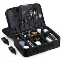 Hi Quality portable makeup bag case beauty train vanity box with strap