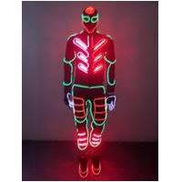 EL Wire Light up Costumes Party Suits Amazing Christmas Supplies DJ Club Wears LED Glowing Clothes F