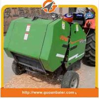 Self-tying mini round baler for Maize straw