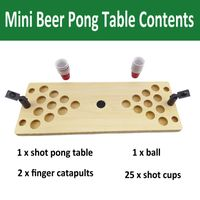 Wholesale Mini Shot Beer Pong Wooden Table Game for On the Go and At Home thumbnail image