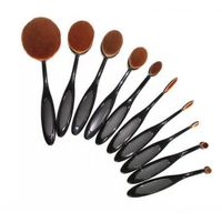 10 pcs/5 pcs Tooth Brush Shape Oval Makeup Brush Set MULTIPURPOSE Professional Foundation Powder Bru
