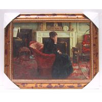 Oil Paintings - Woman In Thinking thumbnail image
