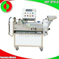 Multifunctional double head root and leaf vegetable cutting machine thumbnail image