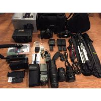 Canon EOS 5D Mark III 22.3 MP Digital SLR Camera W/3 CanonEFLens,ONLY25kAC,WiFi