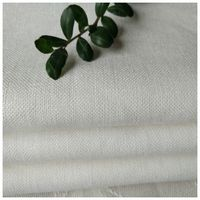 Linen Cotton Blended Solid Soft Fabric 15X15/54X52 for Men Suit