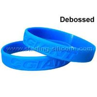 Debossed Silicone Wristbands / Silicone Bracelets-STARLING