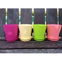Colorful plastic flower pot indoor decoration pot