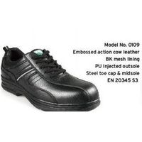 Low-cut Black Leather Safety shoe Manufacturer-No.0109