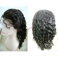 Wholesale Cheap Human Hair U Part Wig Unprocessed Right part Peruvian virgin hair U part lace wig Wi thumbnail image