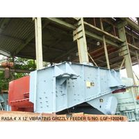 """USED """"RASA"""" 4' X 12' VIBRATING GRIZZLY FEEDER WITH 11KW. 50HZ/200V VARIABLE SPEED MOTOR thumbnail image"""