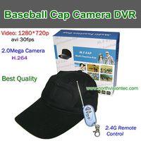 HD-H7,Baseball Cap Camera DVR, Best Quality, 1280720P .30FPS H.264,Wireless Remote Control, TF Card