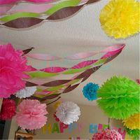 Small Wholesale Order Tissue Paper Pom Poms for Wedding, Baby Shower Homedecoration