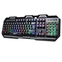 The Best price LED backlit wired multimedia Membrane keyboard for gaming