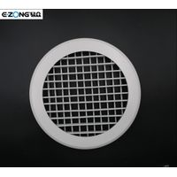 Aluminum round double deflection air grille