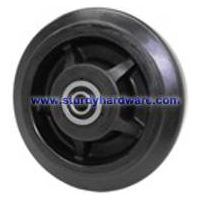 Casters Wheels Rubber on Nylon Waste Bin Wheels