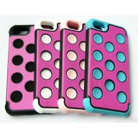 TPU + PC + Silicone 3 in 1 Cover Case for iPhone5