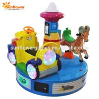 Hot selling mini indoor coin operated machine 2 Player Kiddie Rides Electric carousel game machine thumbnail image