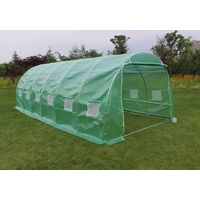 6 x 3 x 2M FULLY Galvanised Frame House Polytunnel Garden Greenhouse