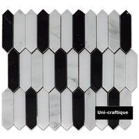 Estern white & Nero Margiua marble mosaic tiles
